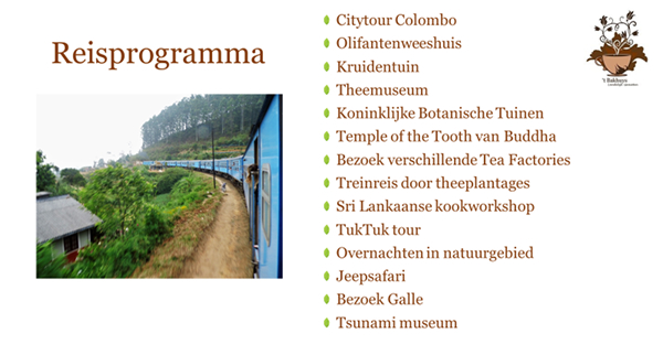 reisprogramma Sri Lanka